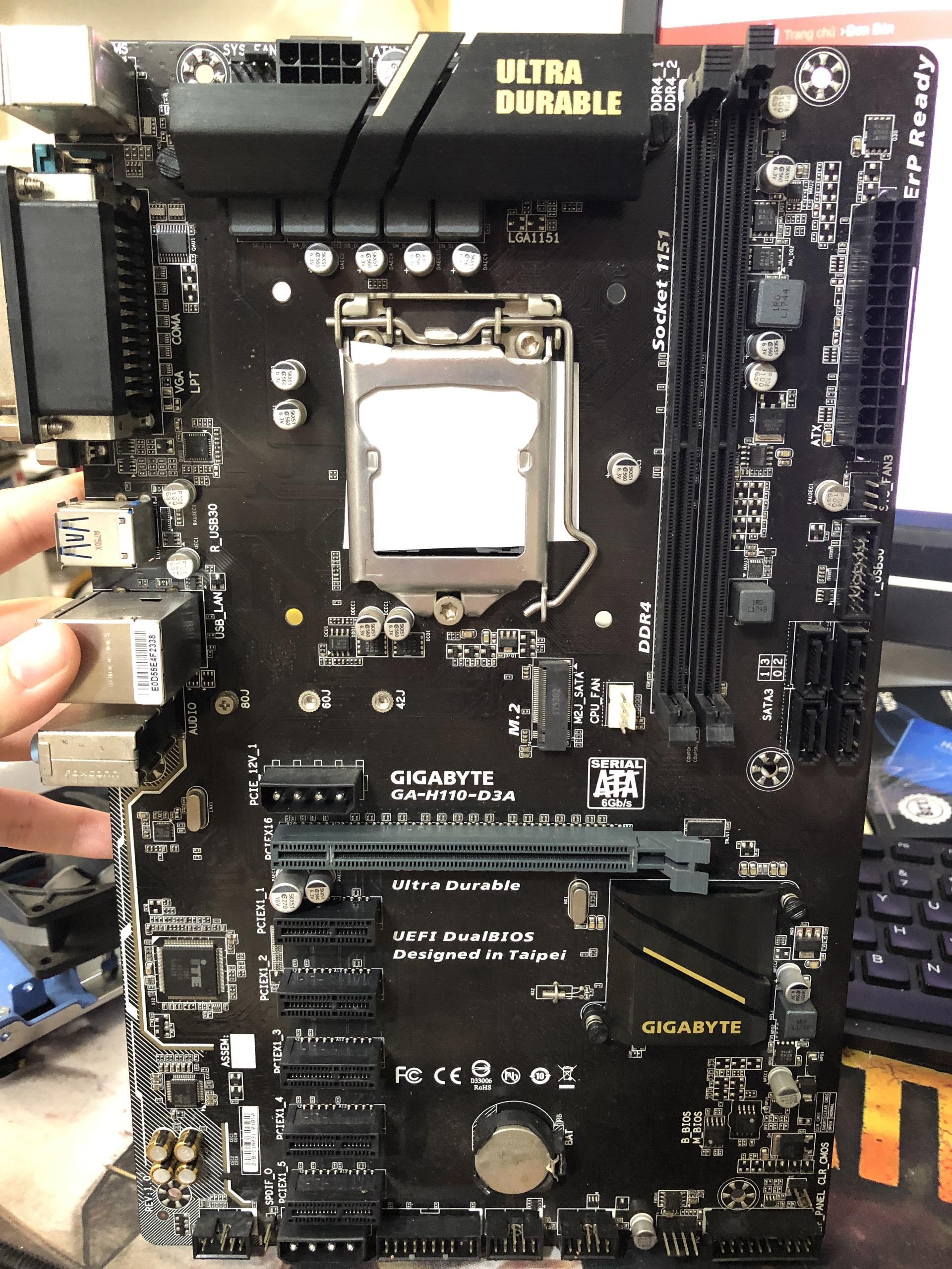 Mainboard GIGABYTE H110-D3A, main máy tính giga h110 d3a