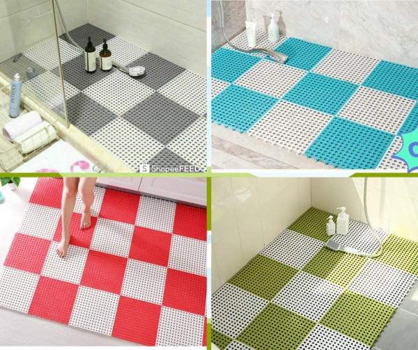 Thảm Chống trơn trượt cho Phòng Tắm Nhà Bếp Bể Bơi. Thảm ghép nhựa lỗ kháng khuẩn, thảm lót sàn nhà, thảm nhà tắm(30*30cm một tấm)