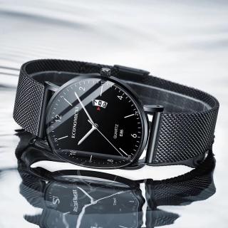 Đồng hồ nam ECONOMICXI mặt Original dây thép lụa thời trang chạy lịch ngày cao cấp DHTT01 thumbnail