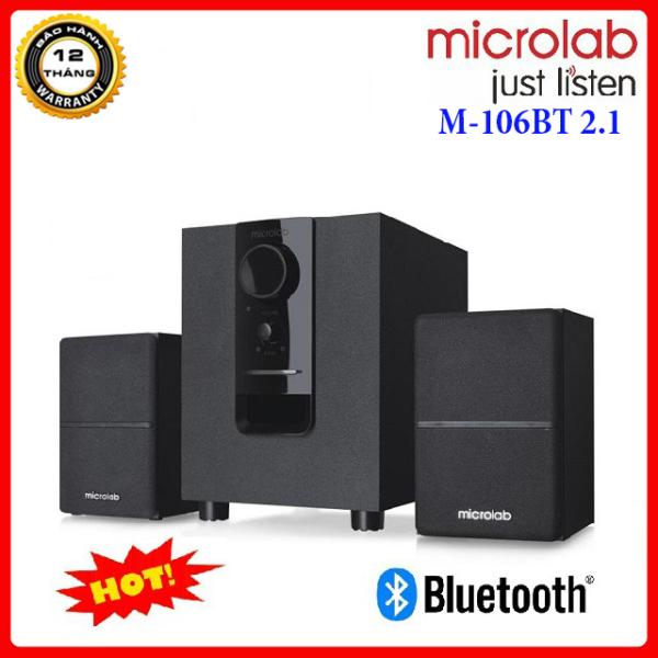 Bảng giá [ GIÁ RẺ VÔ ĐỊCH ] Loa Vi Tính Microlab M-106BT 2.1 Kênh (10W), Kết Nối Bluetooth Cực Nhanh Lên Tới 10m, Bass Cực Lớn, Nghe Nhạc Siêu Hay, Âm Thanh Trung Thực, To-Rõ Ràng, Dùng Cho TV, DVD, CD, Amply, Có Jack 3.5mm, Jack RCA, Có Nút Chỉnh Bass Phong V�