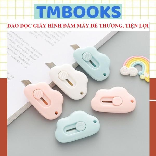 Dao dọc giấy mini hình đám mây nhỏ gọn tiện dụng, dễ thương - Dao dọc giấy TMBOOKS