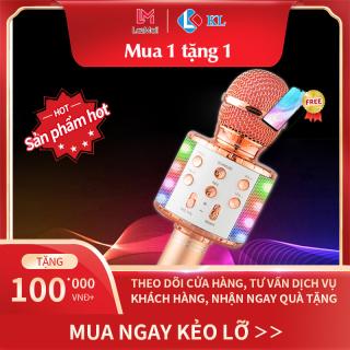 Hot Hot Giảm giá 50%, Mic Hát karaoke kết nối Bluetooth không dây WS-858L, micro không dây, micro karaoke bluetooth, micro live stream, micro không dây bluetooth Đèn Led theo nhạc thumbnail