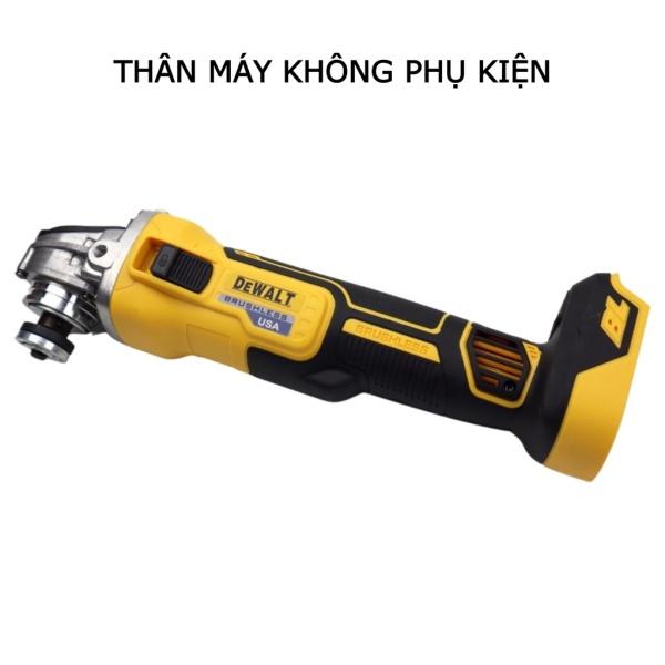 Máy mài góc, máy cắt cầm tay Dewalt DW405 không chổi than dùng pin tặng lưỡi cắt sắt, cắt gỗ, nhám xếp