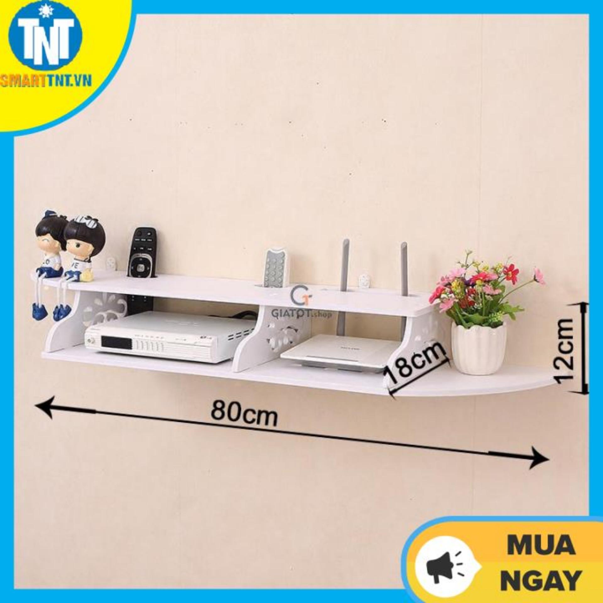 Kệ gỗ treo tường - Kệ treo đầu thu - Kệ gỗ đa năng - Kệ gỗ PVC cỡ nhỏ KDT-SMALL-01