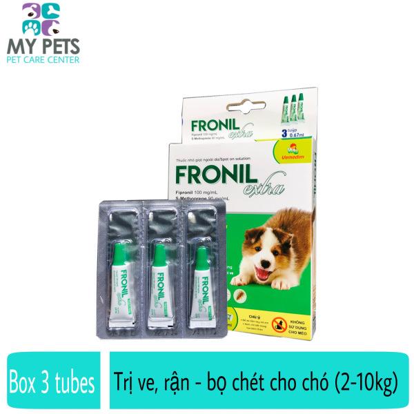 Fronil Extra nhỏ gáy hết ve rận, bọ chét cho chó (size 2-10kg) (VMD) - Hộp 3 tuyp. ( 3 tubes. Full box)