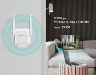 bộ tăng kích sóng WiFi TOTOLINK EX200 mở rộng sóng Repeater Chuẩn N -BH chính hãng thumbnail