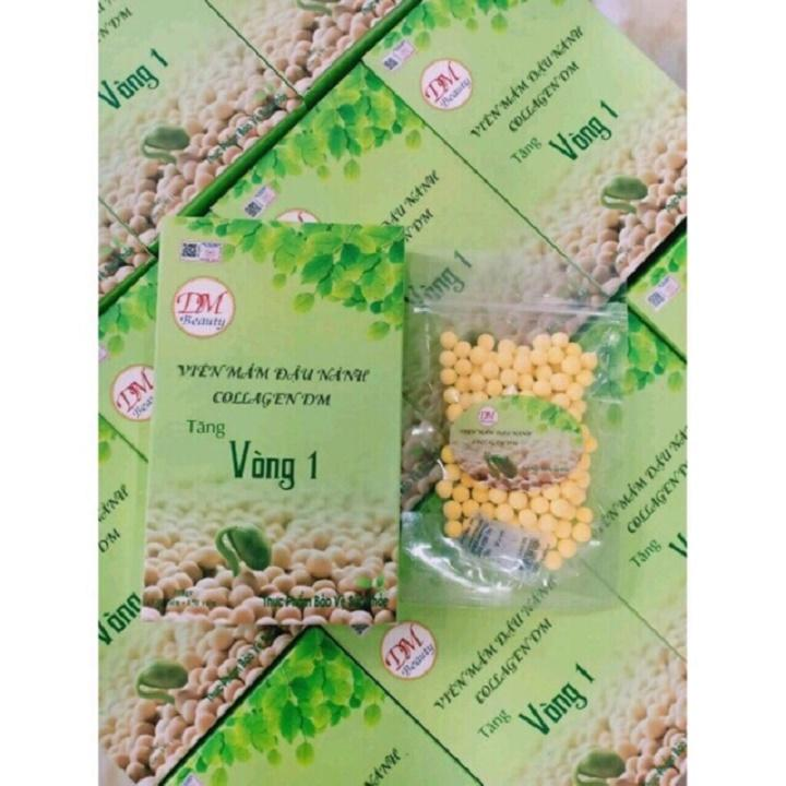 Combo 2 hộp viên mầm đậu nành collagen DM tăng vòng 1_Tặng kèm thước dây