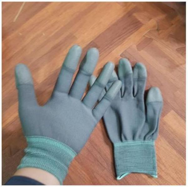 (Chuyên sỉ lẻ) 30 đôi găng tay bảo hộ lao động phủ ngón tay bảo vệ đôi tay thích hợp cho thợ hàn, xây dựng, làm vươn, phòng sạch, linh kiện điện tử, vvaanj hành máy móc