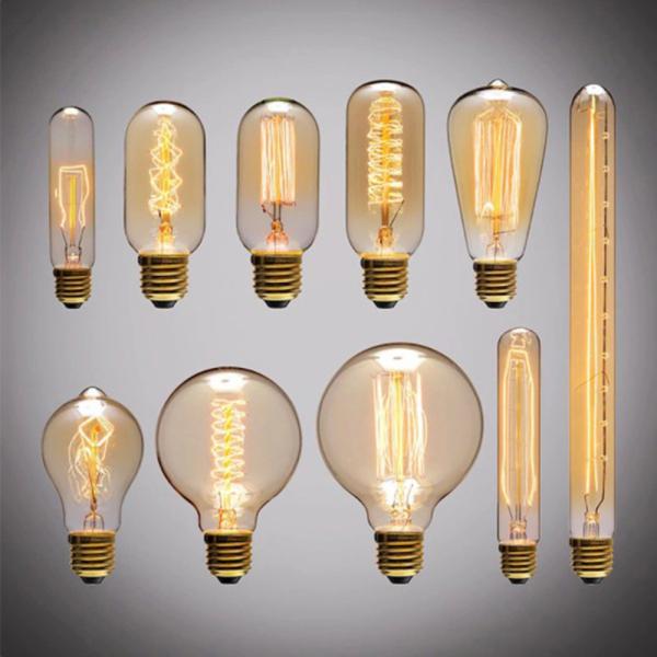 Bảng giá GANGBANI Warm White Screw connector Ball light E27 holder Antique Incandescent Edison Lamp Filament Glass Vintage Retro Bulb