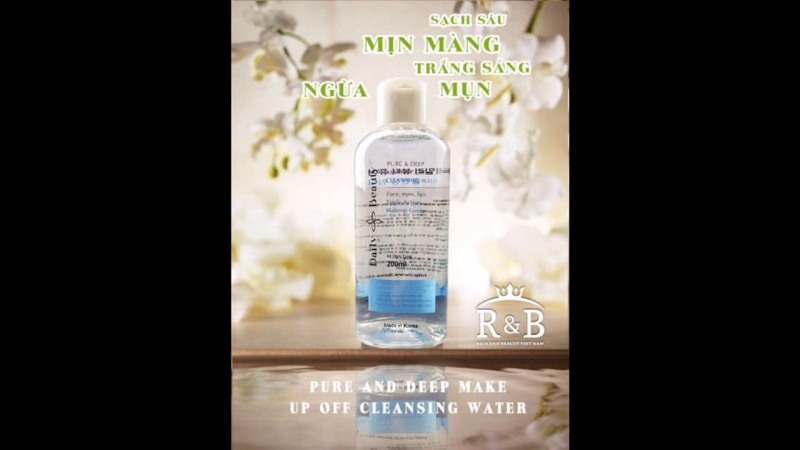 Nước_tẩy_trang Daily Beauty Pure & Deep Make-Up Off Cleansing Water cao cấp