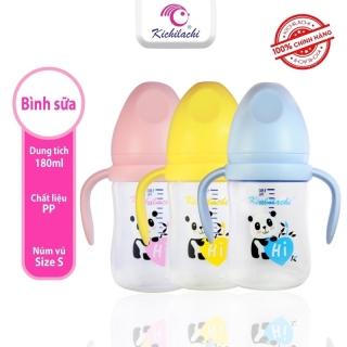 Bình sữa cổ rộng Kichilachi PP núm ty silicon siêu mềm chống sặc và đầy hơi cho bé 180ml 240ml thumbnail