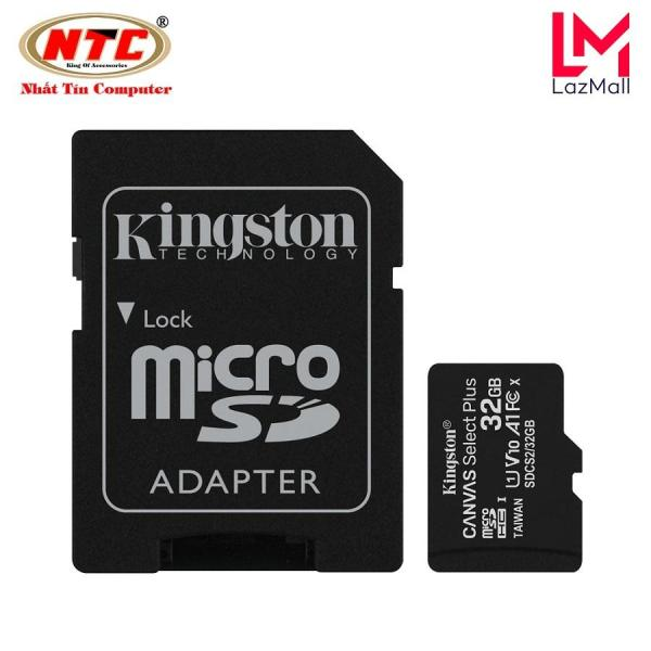 Thẻ nhớ microSDHC Kingston Canvas Select Plus 32GB U1 V10 A1 100MB/s (Đen)