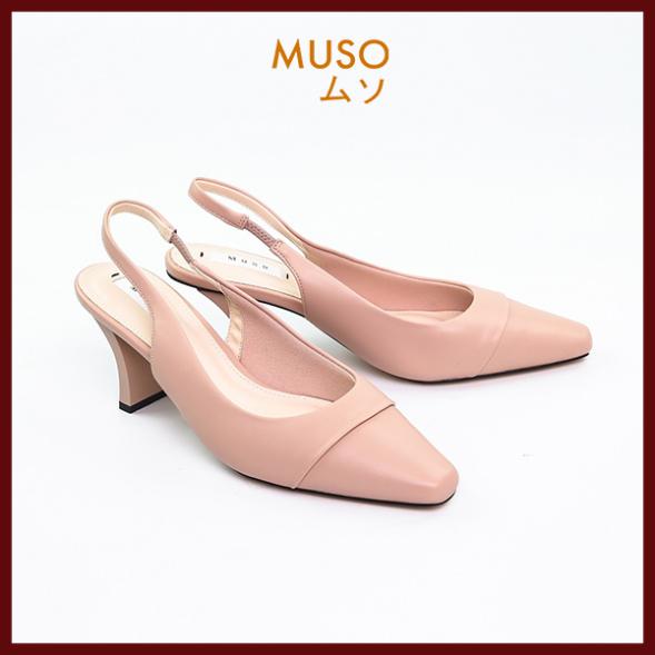 Giày Cao Gót Da Trơn Quai Mềm MUSO Mũi Nhọn Đế Vuông 7cm Đi Làm Đi Chơi- Giày cao gót - Giày cao gót nữ 7 phân- Giày cao gót 7p - Giày nữ - Chất liệu mềm, đẹp - Màu sắc trẻ trung - Hàng thương hiệu chính hãng Xuất Nhật giá rẻ