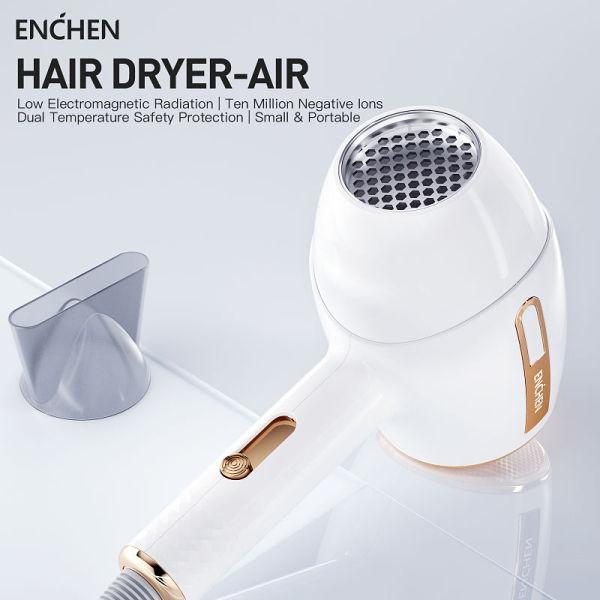 Máy sấy tóc Ion Enchen Air suôn mượt giảm khô rối sấy nóng và lạnh giá rẻ