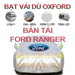[LOẠI 1] Bạt che kín bảo vệ xe bán tải Ford Ranger 4,5 chỗ tráng bạc cao cấp, vải bông chống xước 3 lớp vải dù Oxford , bạt phủ trùm che nắng, mưa, bụi bẩn, áo chùm bạc trùm phủ xe oto ban tai Bảo Tín Auto thumbnail