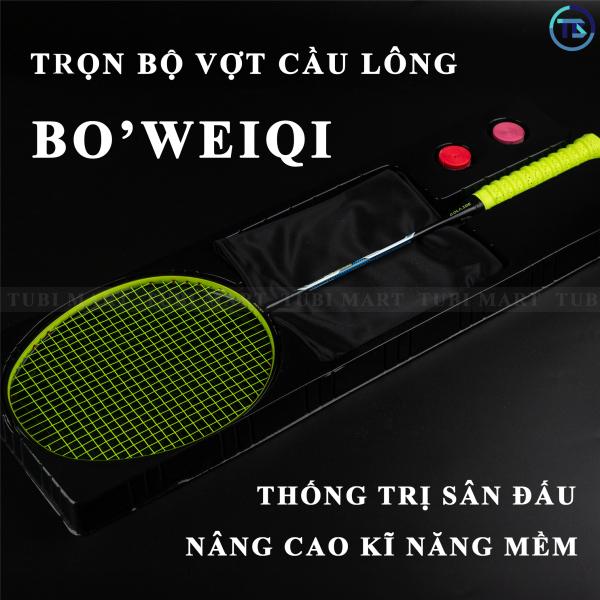 Bộ Vợt Cầu Lông Boweiqi Chính Hãng – Vợt Cầu Lông 100% Khung Carbon Siêu Bền, Siêu Nhẹ KÈM PHỤ KIỆN – TB007