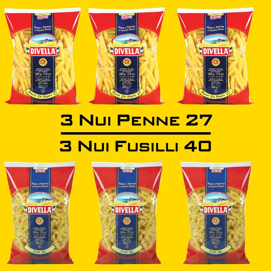 Nui ống xéo Divella Penne 27