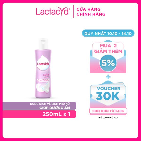 Dung Dịch Vệ Sinh Phụ nữ Lactacyd Soft & Silky Dưỡng Ẩm 250ml cao cấp