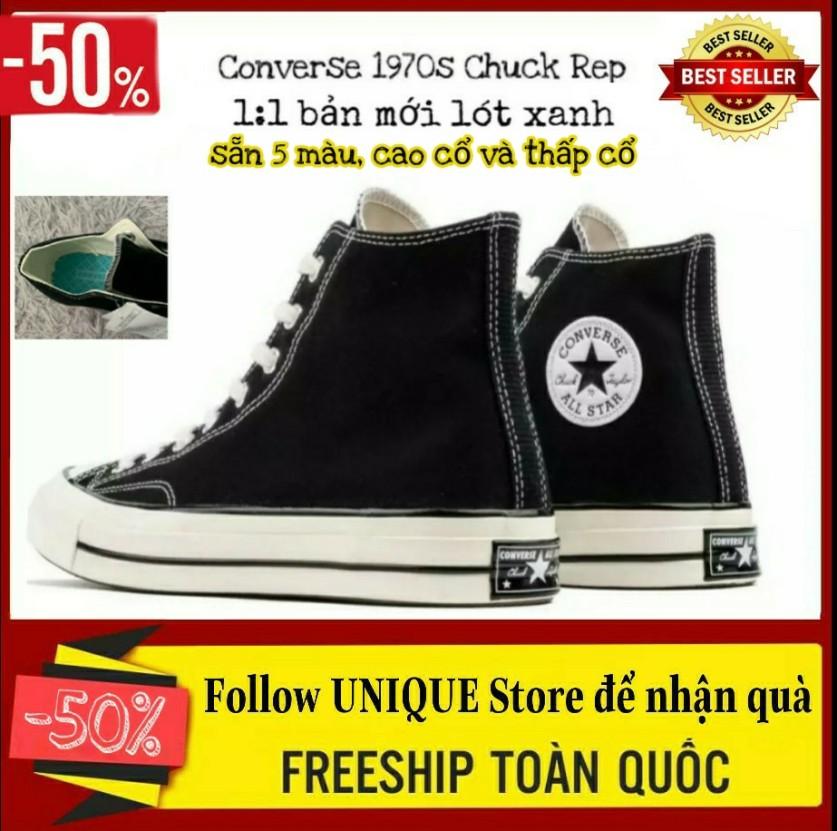 ( Tặng Hộp ) Giày Converse Chuck Taylor Cao Cổ Đen Trắng Cho Nam Và Nữ, Giày Thể Thao Sneakers Nam Nữ, Giày Sneaker Cao Cổ giá rẻ