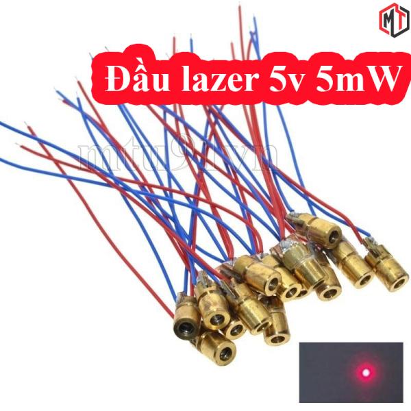 (2 Cái ) - Đầu phát tia laze 5mW - Module diode Laser sáng đỏ hội tụ 5V - 650nm