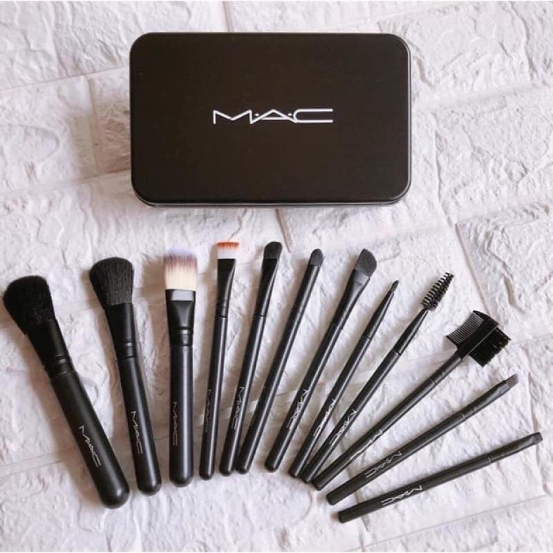 Bộ cọ trang điểm 12 món MAC, dụng cụ makeup, đồ nghề make up chuyên nghiệp, combo make-up