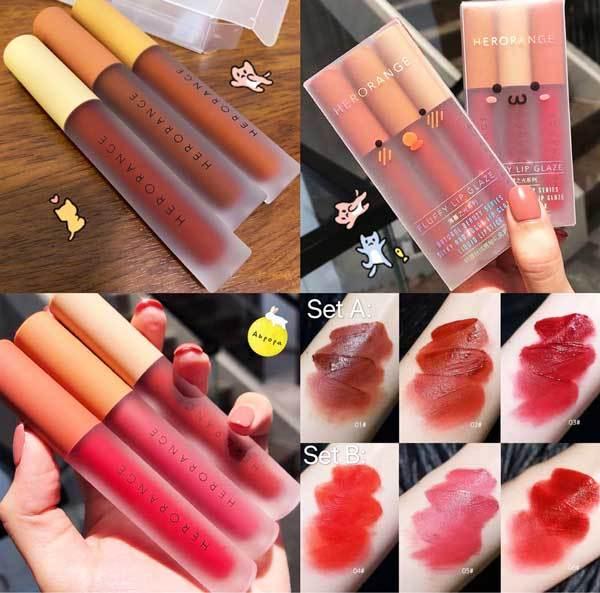 SET SON KEM 3 CÂY HUDAPRO nội địa sỉ rẻ lipstick lâu trôi mềm mịn căng bóng dưỡng môi sỉ rẻ giá rẻ