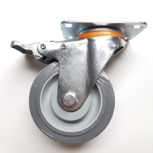 Bộ 4 bánh xe đẩy hàng cao su 10 cm đặc Performa loại mềm dẻo, chống ồn tốt chịu lực 500kg