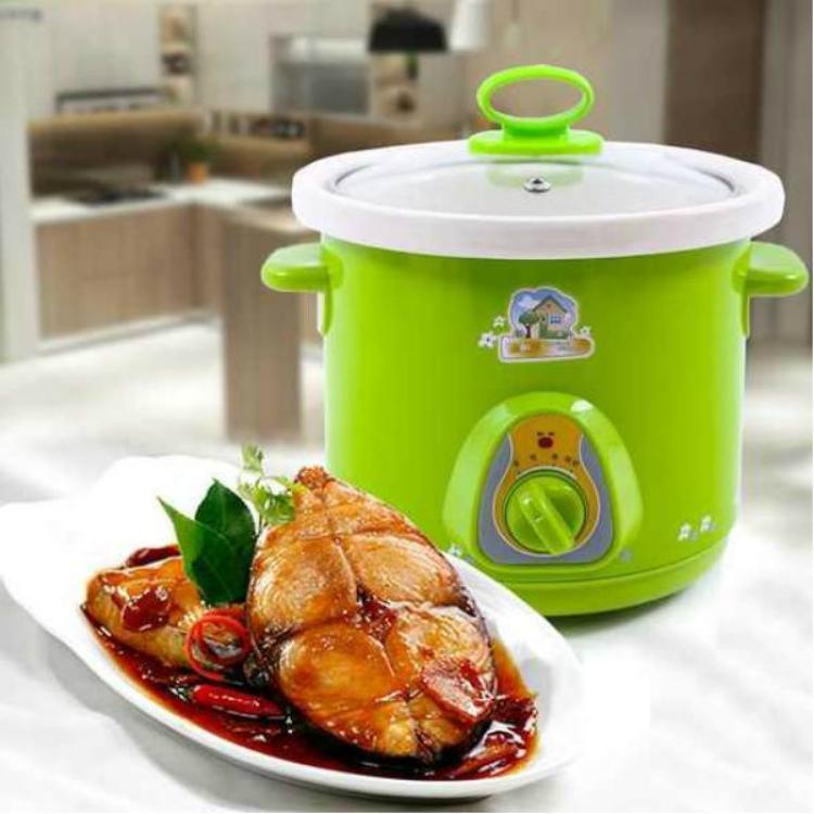 Nồi Nấu Chậm Đa Năng, Cách Nấu Cháo Cho Bé Ăn Dặm, Nồi Nấu Cháo Chậm Cao Cấp, Hầm Xương, Kho Thịt, Kho Cá 1,5l