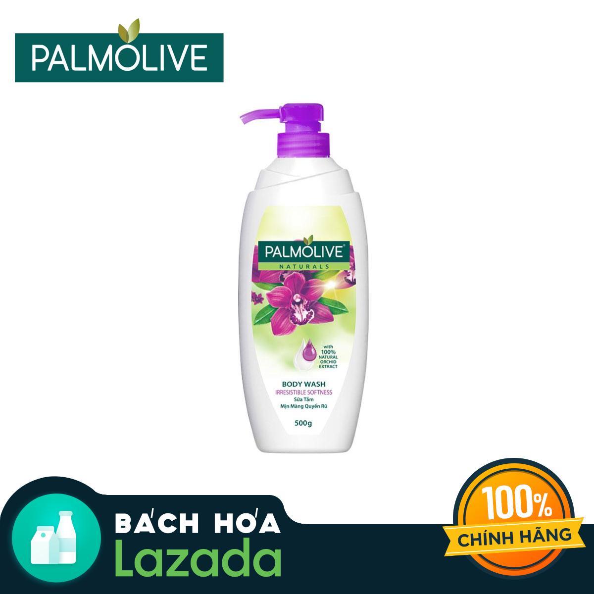 Sữa Tắm Palmolive Mịn Màng Quyến Rũ 100% Chiết Xuất Từ Phong Lan 500g Đang Trong Dịp Khuyến Mãi