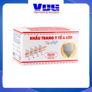 Khẩu trang y tế 4 lớp vải không dệt Hynam - (50 cái hộp) - Màu xám thumbnail