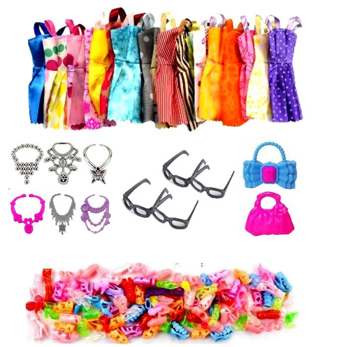Bộ 32 Chi Tiết Phụ Kiện Thời Trang Búp Bê Đồ Chơi (10 Giầy+10 Váy+6 Vòng+4 Kính +2 Túi) Giá Quá Tốt Phải Mua Ngay