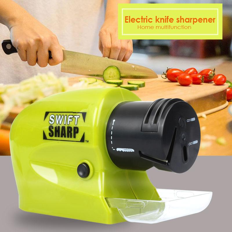 PP Electric Sharpening Tool Knife Sharpener Professional Knife Ceramic Convenient Durable Kitchen Accessories Sharpening Electric Knife Sharpener