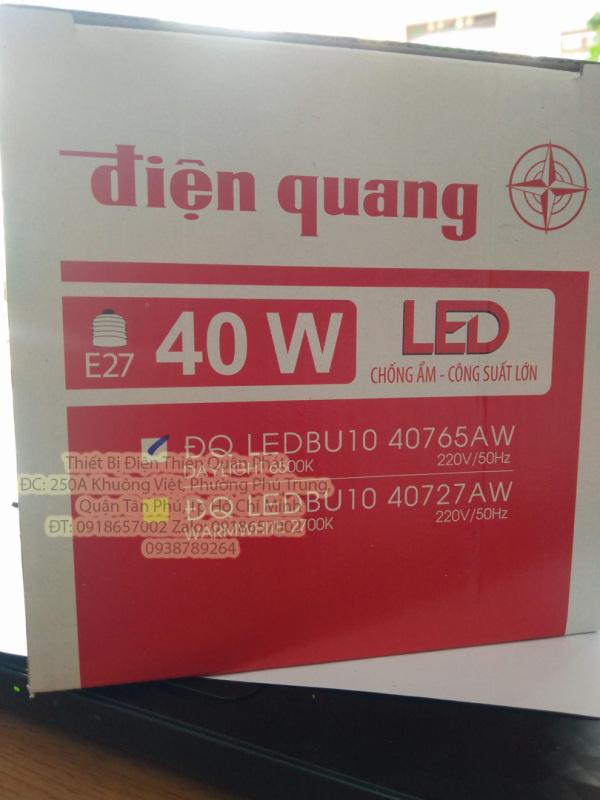 Đèn LED bulb công suất lớn Điện Quang 40W, bầu kín ĐQ LEDBU10 40W
