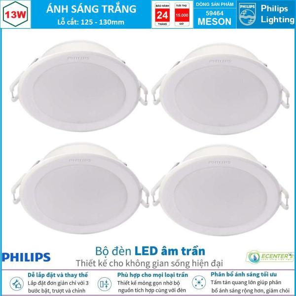 ( Bộ 4 ) Đèn Led Âm Trần 13W Philips Downlight 59464 MESON D125 ( Ánh Sáng Trắng  & Trung Tính & Vàng )
