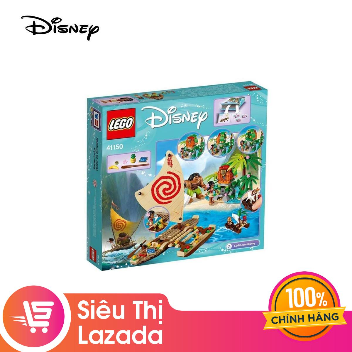 Lazada Ưu Đãi Khi Mua [Voucher Freeship 30k]Bộ Lắp Ráp Lego Disney Moana Hành Trình Khám Phá đại Dương 41150
