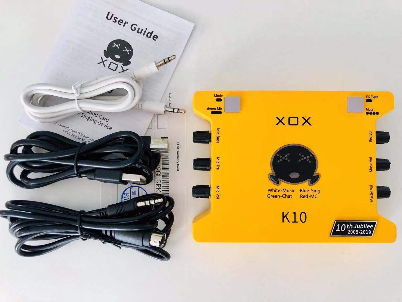 Sound Card XOX K10 Phiên Bản Đặc Biệt Kỷ Niệm 10 Năm Siêu Giảm Giá