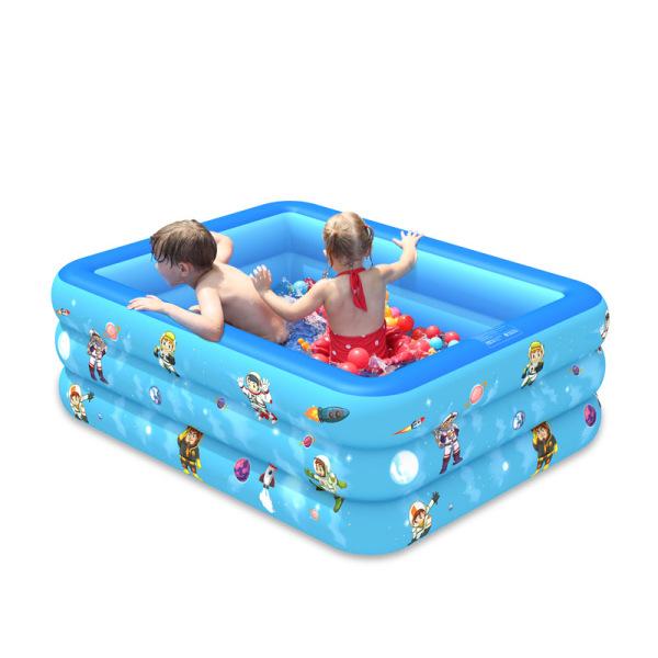 Bể bơi trẻ em, Phao bể bơi cho bé, Bể bơi bơm hơi cỡ lớn tặng kèm bơm - Thành cao chất liệu nhựa dày dặn đàn hồi tốt , Thiết kế 3 tầng chịu lực tốt , Dễ dàng gấp gọn khi không sử dụng.