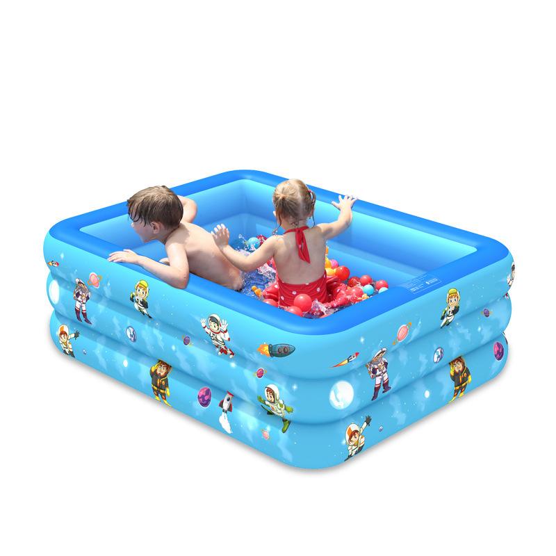 Bể bơi 2 tầng, Bồn tắm phao cho bé, Bể bơi bơm hơi cỡ lớn tặng kèm bơm - Thành cao chất liệu nhựa dày dặn đàn hồi tốt , Thiết kế 3 tầng chịu lực tốt , Dễ dàng gấp gọn khi không sử dụng.