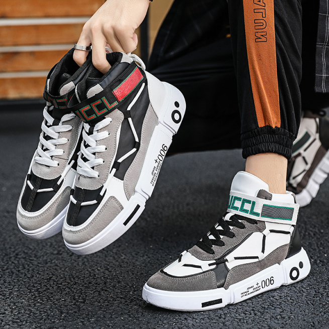 Giày cao cổ nam đế chữ dây luồn cổ có tem nổi bật mẫu mới về 2020 giá rẻ