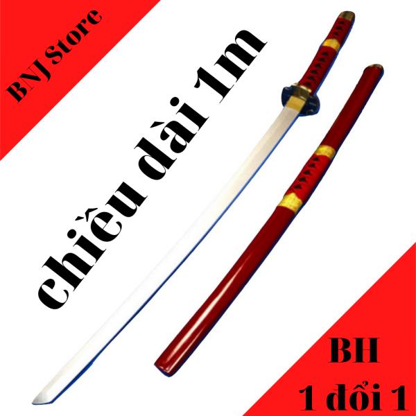 Mua [ Kiếm gỗ 1m ] Kiếm nhật katana / kiếm kimetsu no yaiba / mô hình kiếm zozo / kiếm gỗ đồ chơi [ màu đỏ ] ]