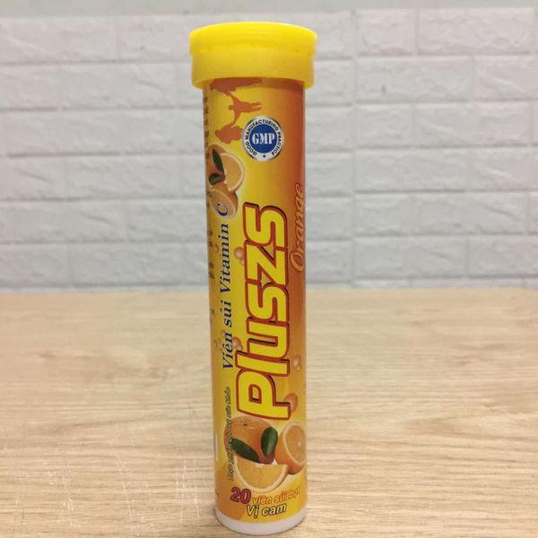 Viên Sủi  PLuszs Vitamin C - Hương Cam - Mỗi Tuýp là 20 viên nhập khẩu