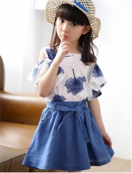 Giá bán Bộ đồ cho bé gái gồm áo hở vai và chân váy BO28