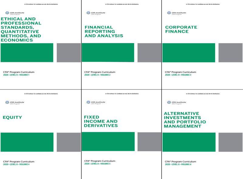 CFA Program Curriculum 2020 Level II Volumes 1-6 Box Set ( sách gia công)