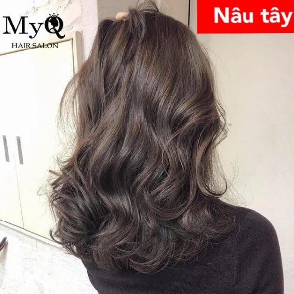 Tự nhuộm tóc màu Nâu tây tại nhà, hàng nội địa Việt Nam, không gây hư tổn cho tóc (Trọn bộ tặng gang tay, trợ nhuộm)