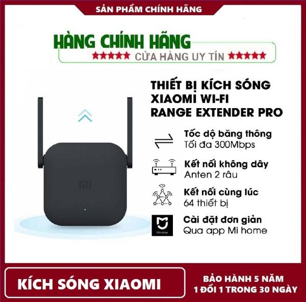 Bảng giá BẢO HÀNH 1 NĂM-Thiết bị kích sóng Xiaomi Wi-Fi Range Extender Pro l Wi-Fi băng tần 2.4GHz l Tốc độ truyền tối đa 300Mbps Phong Vũ