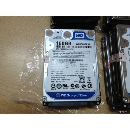 Giá Ổ Cứng HDD Laptop 160GB - Bảo hành 12 tháng