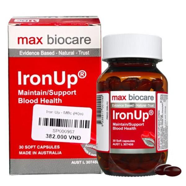 Iron Up – Hỗ trợ bổ sung sắt, bổ máu và hỗ trợ duy trì lượng máu bình thường (Lọ 30 viên) cao cấp