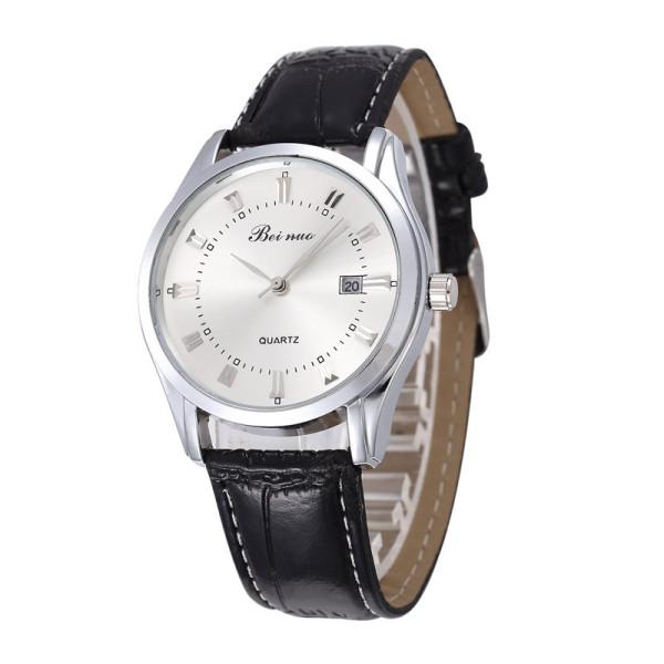 Đồng hồ BEI NUO dây da cao cấp, chống nước tốt, bảo hành 1 đổi 1 (Đen) bán chạy