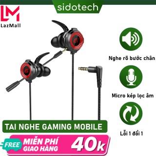 Tai nghe game thủ có dây chống ồn Sidotech G11 có mic 360 độ tích hợp chuyên dụng chơi game pug mobile tốc chiến lmht liên quân trên điện thoại dành cho game thủ chuyên nghiệp thumbnail