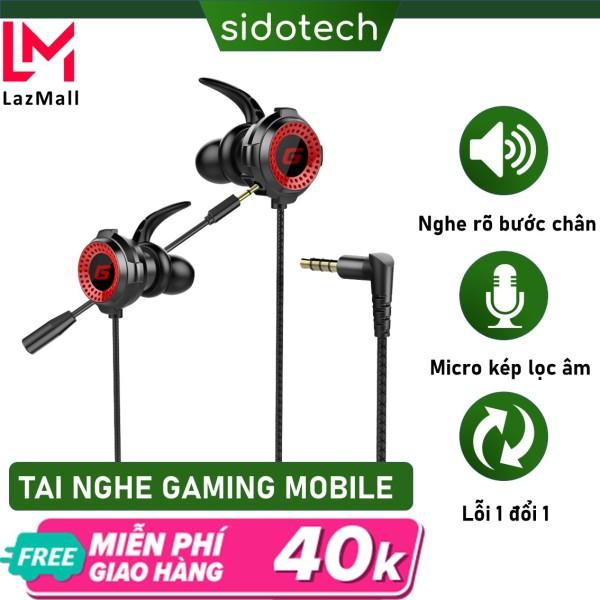 Bảng giá Tai nghe game thủ có dây chống ồn Sidotech G11 có mic 360 độ tích hợp chuyên dụng chơi game pug mobile tốc chiến lmht liên quân trên điện thoại dành cho game thủ chuyên nghiệp Phong Vũ
